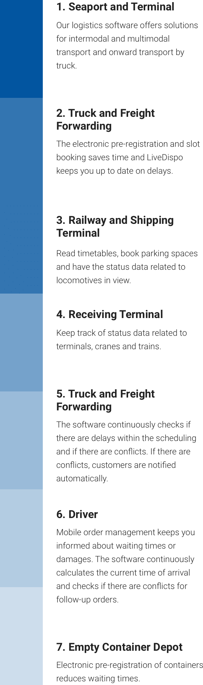 cargo support | Software Container Logistics